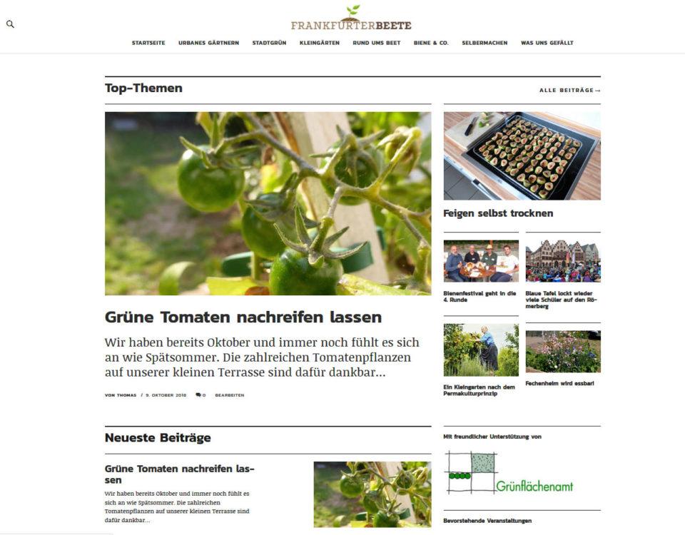 Blog Frankfurter Beete